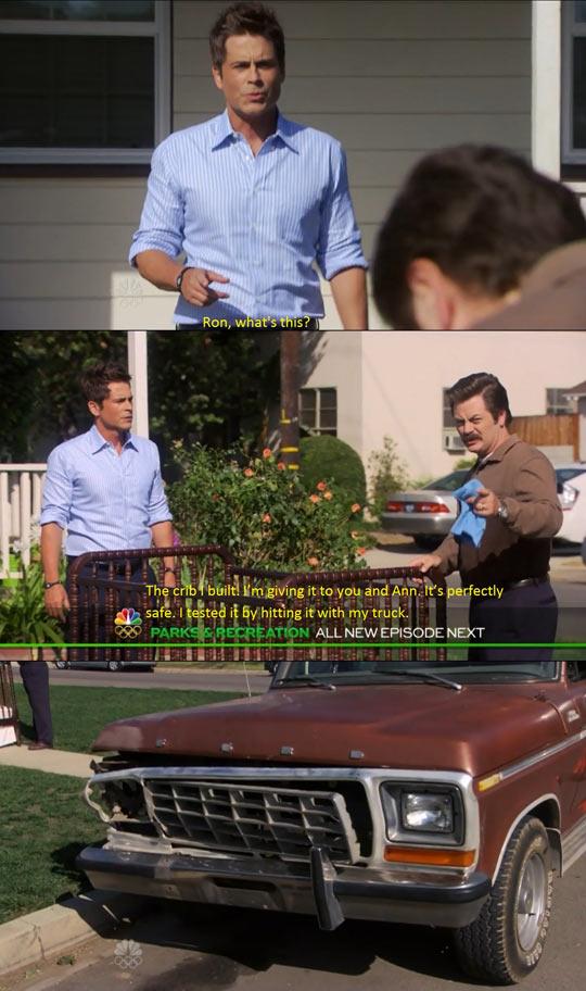 funny-Ron-Swanson-car-Rob-Lowe