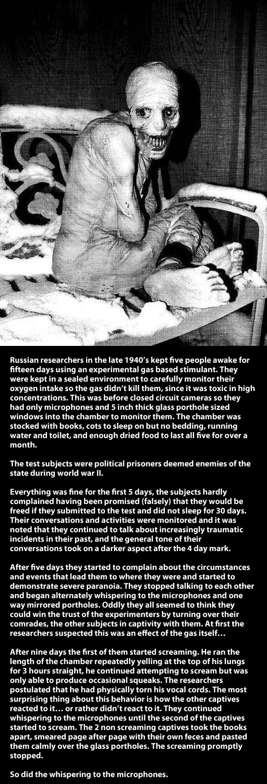 Russian sleeping experiment...