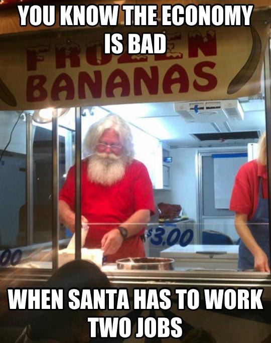 No one escapes the bad economy…