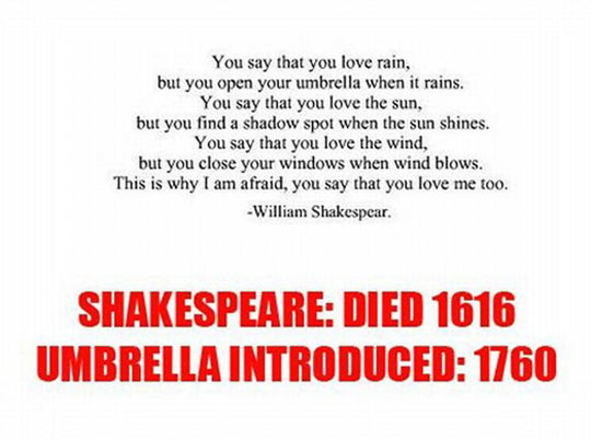 Funny Love Quotes By Shakespeare : William Shakespeare was a visionary?