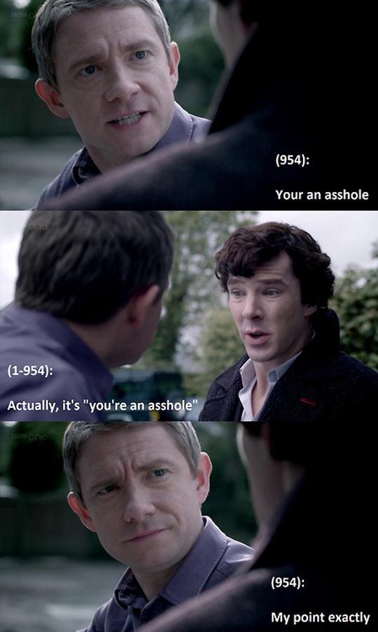 Grammar lessons from Sherlock…