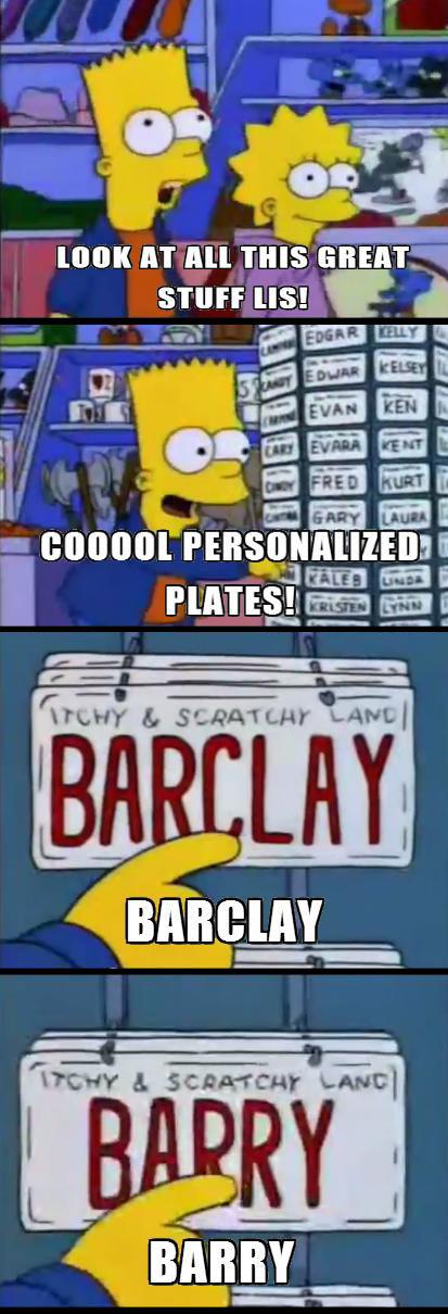 Bart and Lisa visit gift shop