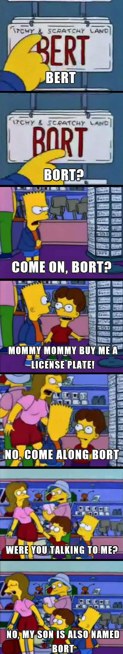 funny-Simpsons-Bart-Lisa-plates-Bort