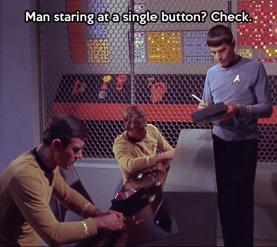 Spock doing his job…