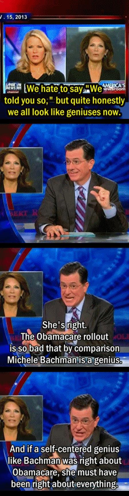 funny-Stephen-Colbert-Michele-Bachman-genius