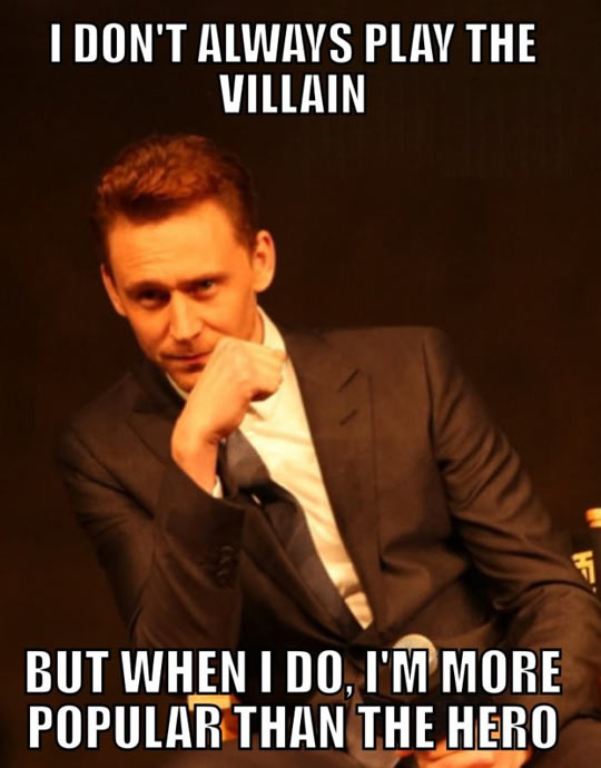 Tom Hiddleston, the real most interesting man in the world…
