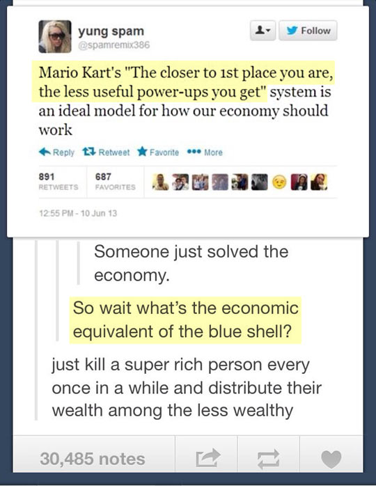 Mario Kart and the economy…