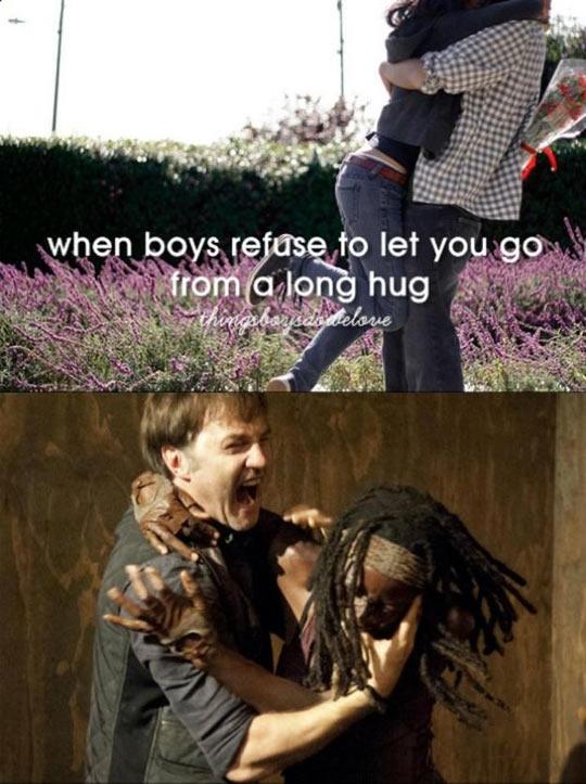 funny-Walking-Dead-hug-romantic