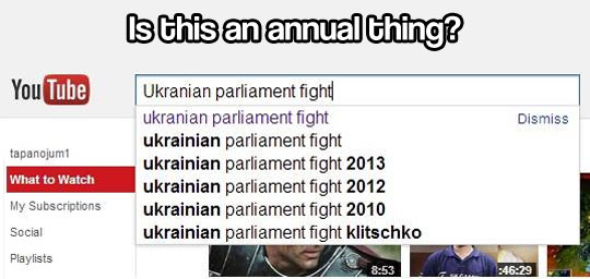 Parliament fights in Ukraine…