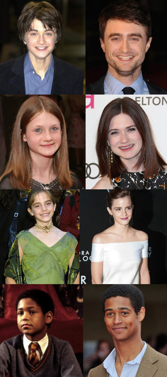 Harry Potter actors: then and now…