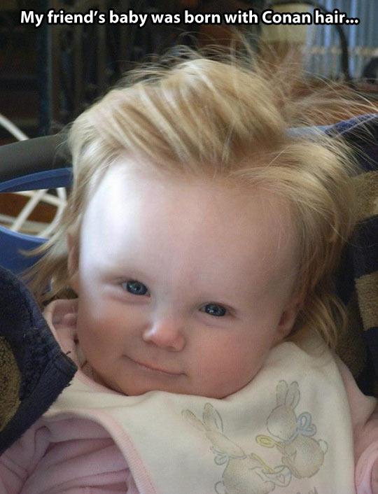 Conan hair…