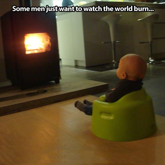 Enjoying the fire…