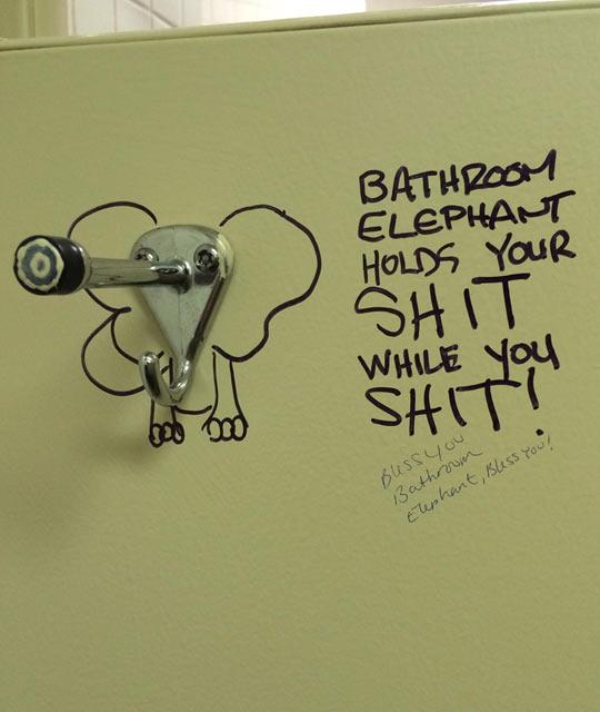 Bathroom elephant…