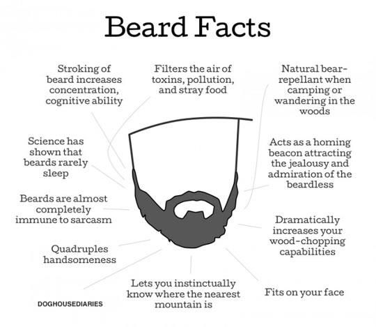 Irrefutable beard facts…