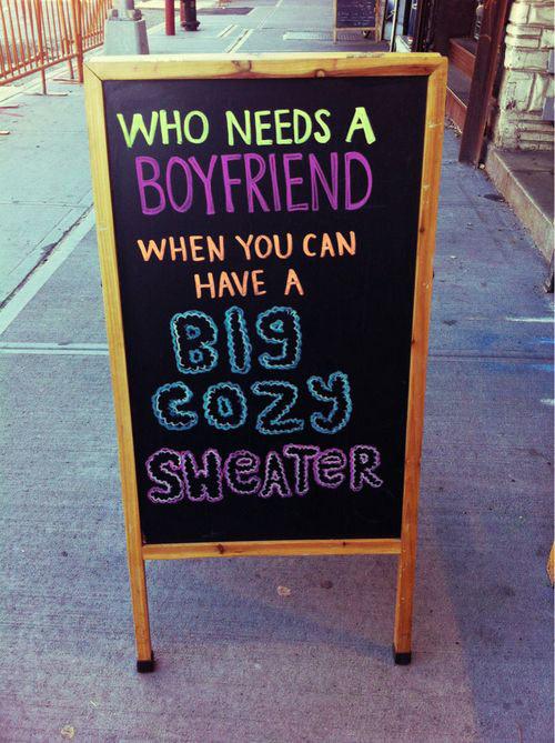 No need for boyfriends…