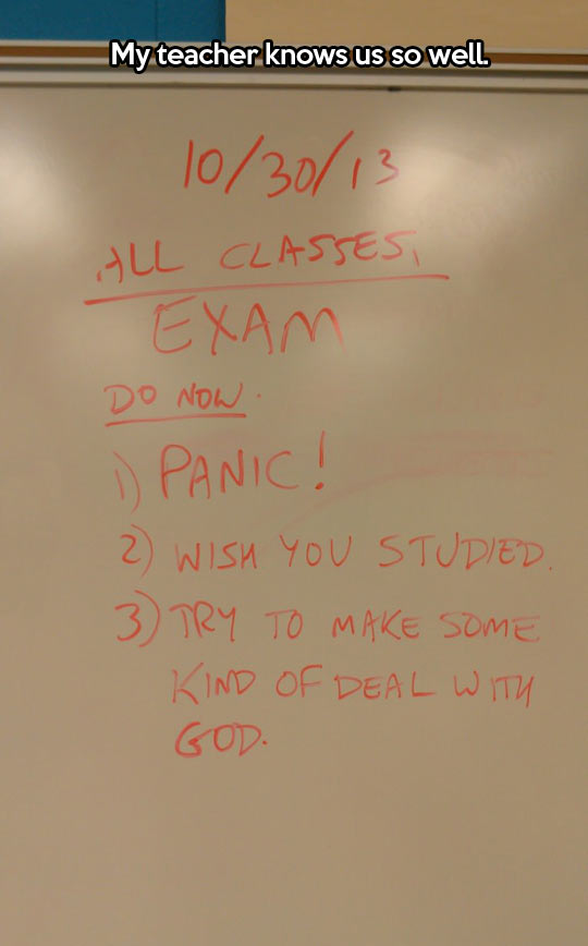 Exam instructions…
