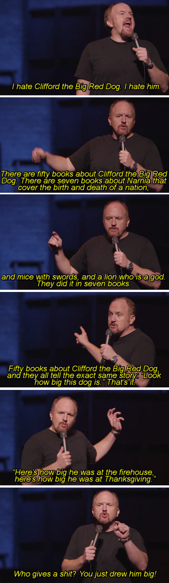 funny-books-Clifford-Red-Dog-Narnia-lions
