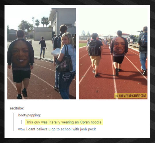 Oprah hoodie…