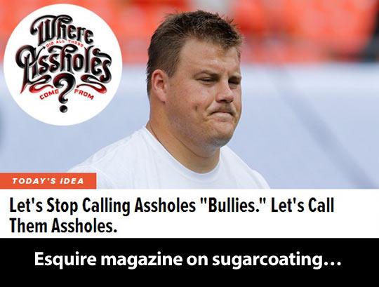 Esquire magazine on sugarcoating…