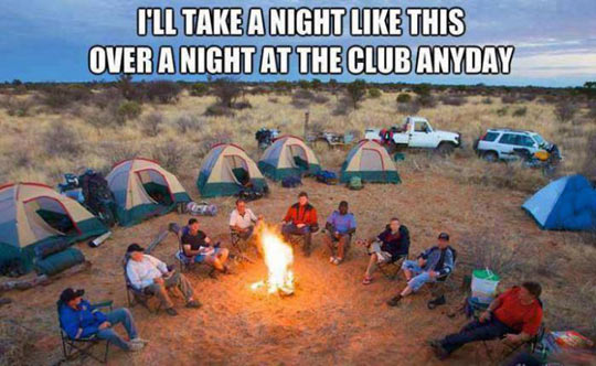 funny-camping-friends-tent-fire-forest