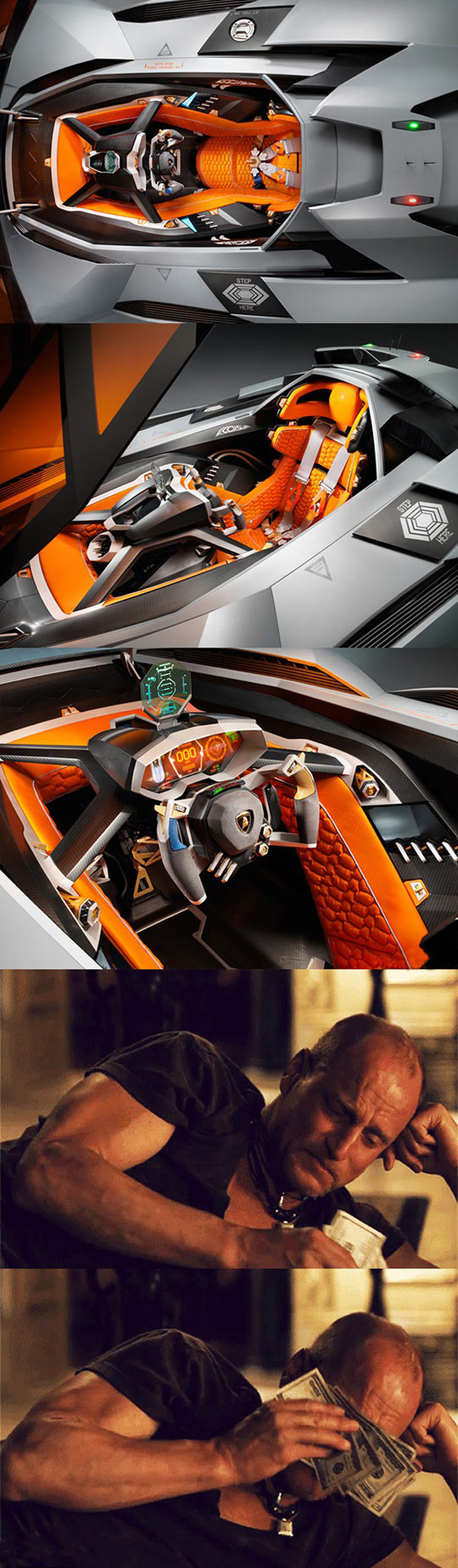 funny-car-seater-Lamborghini-money
