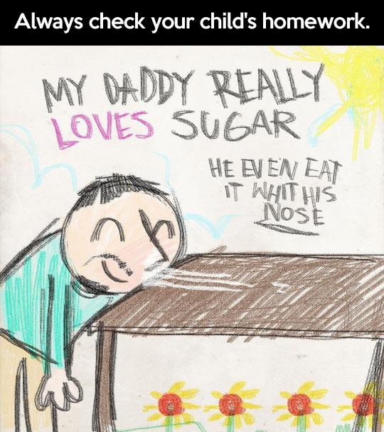 Check your kids' homework…