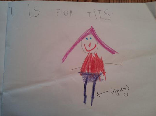 funny-children-drawing-letter-tights