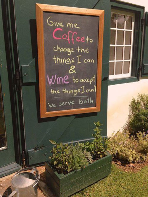 Excellent coffee shop sign…