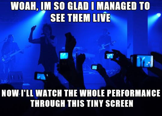 Concerts nowadays…