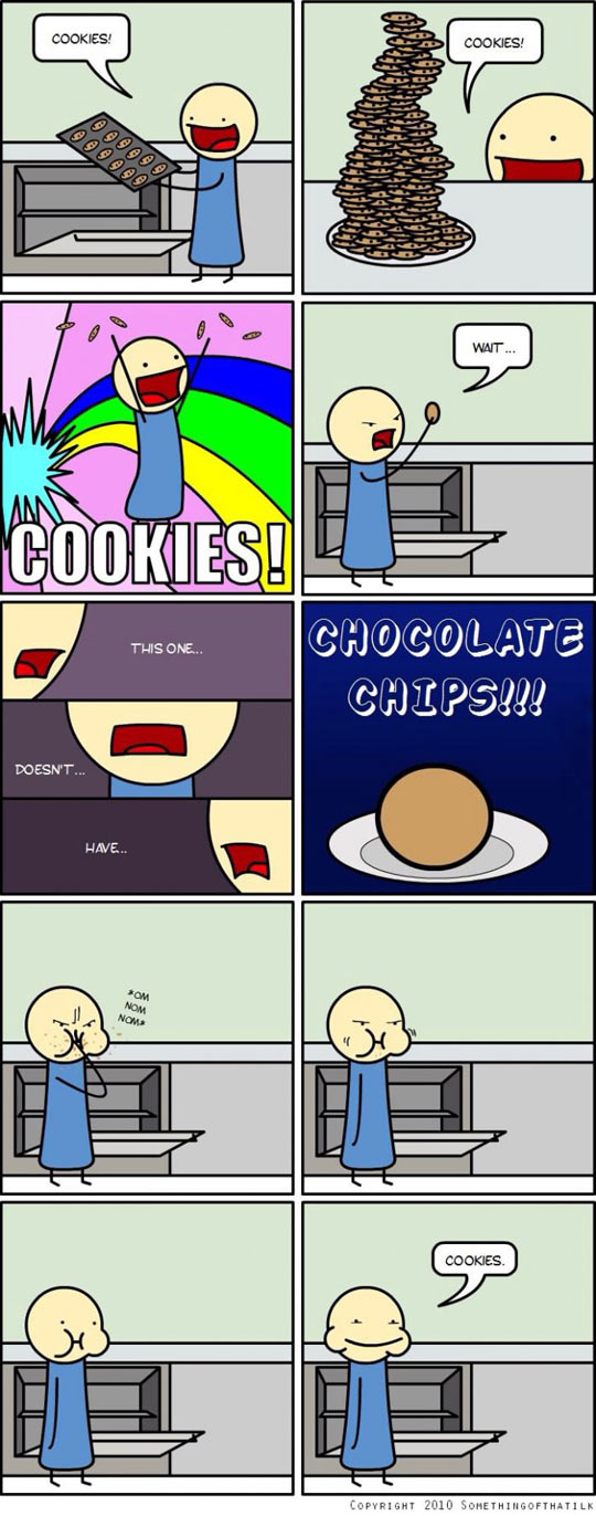 Cookies are cookies if they have chocolate chips…