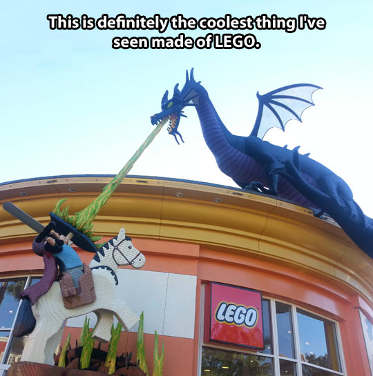 The coolest LEGO creation…