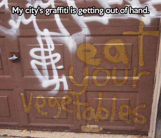 Graffiti with a message…