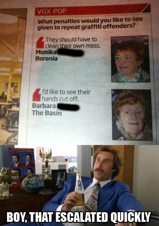 Grandma Barbara is not messing around…