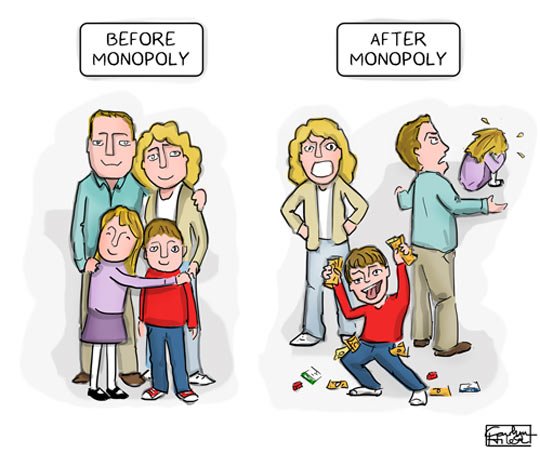 Before and after Monopoly…