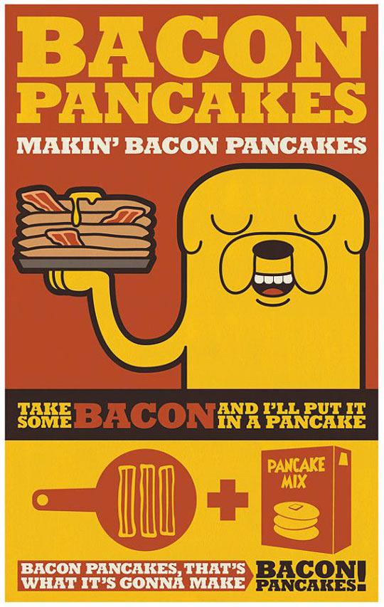 Bacon pancakes…