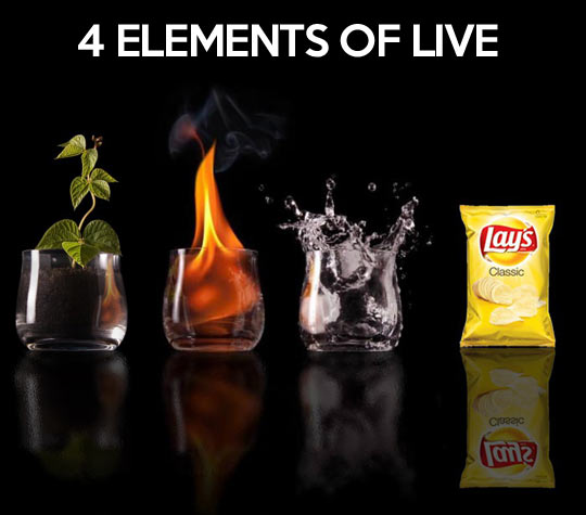The four elements of life…