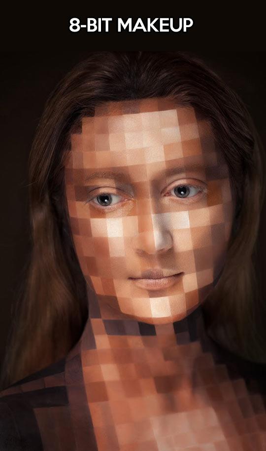 Pixelated makeup…