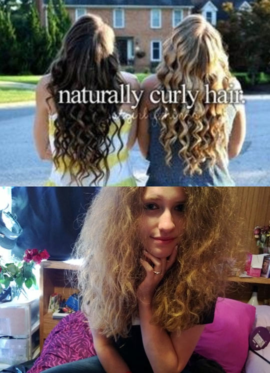 So I have real naturally curly hair….