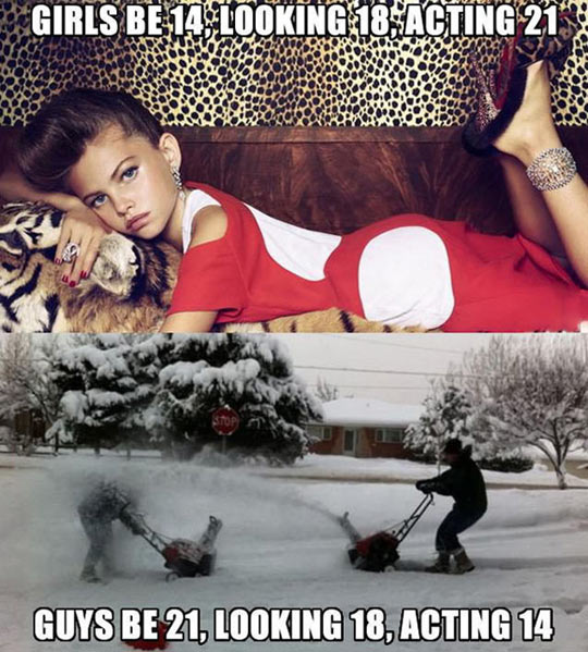 Difference between girls and guys…