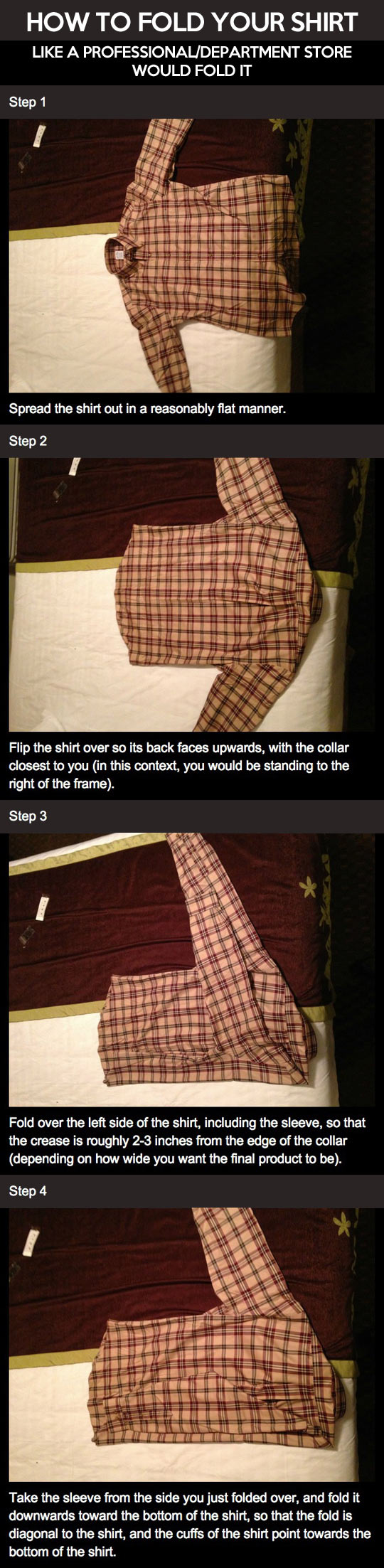How to fold your shirt...
