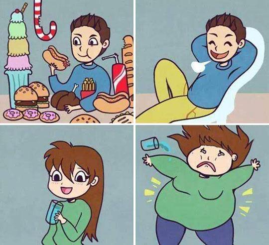 funny-guy-girl-food-fat-comic