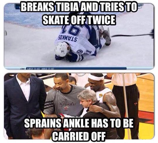 Hockey vs. Basketball…