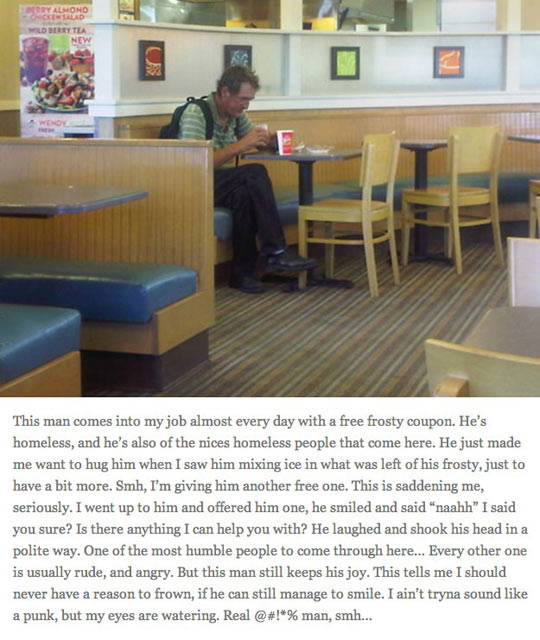 The kindest homeless man in the world…