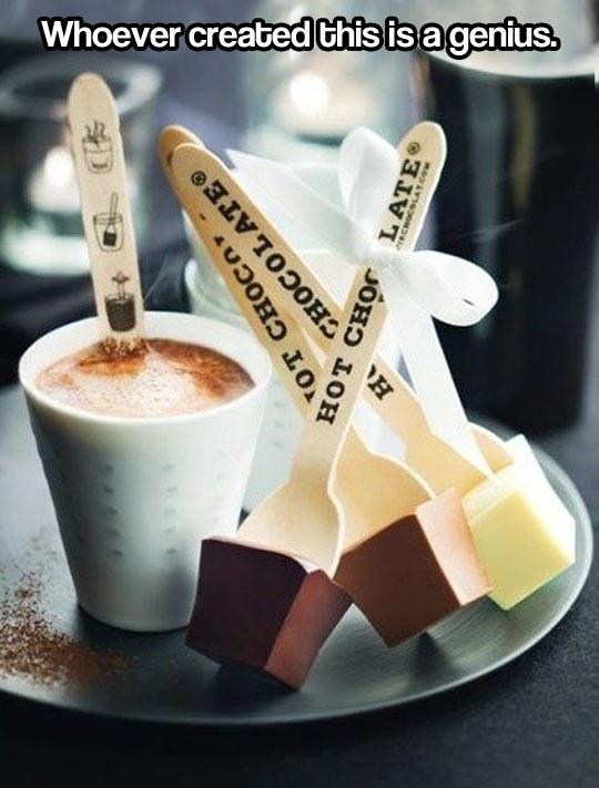 Hot chocolate…