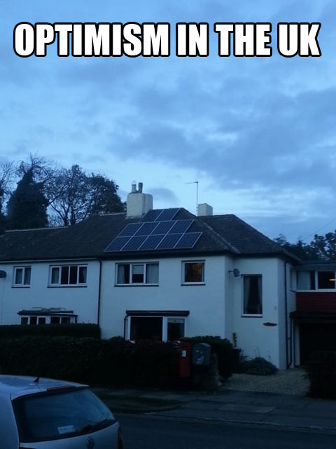Those solar panels will sure come in handy…