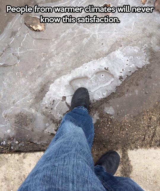 Crushing ice…