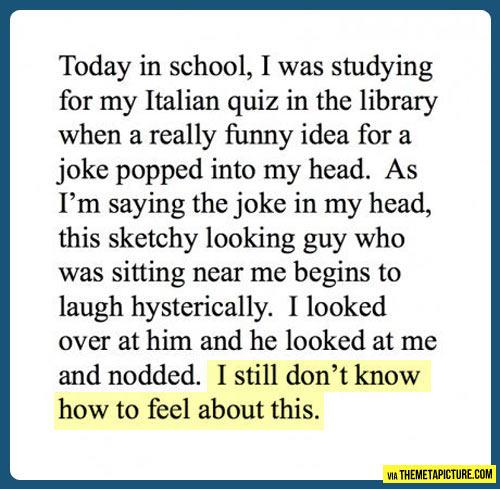 Probably a mind reader…