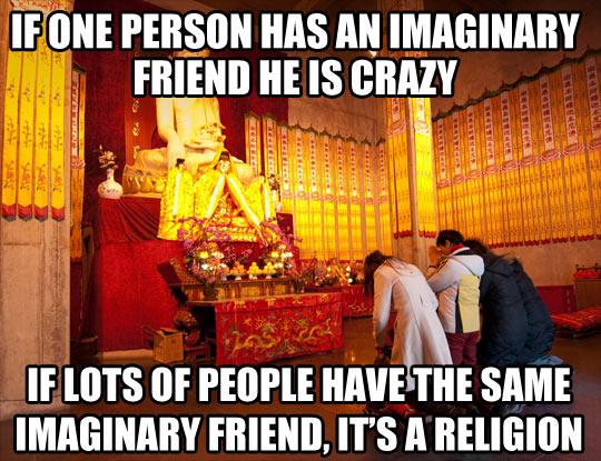 The same imaginary friend…