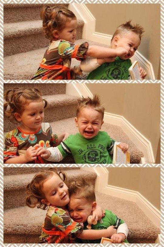 Pure sibling love…
