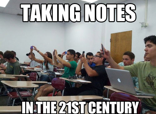 Taking notes these days…
